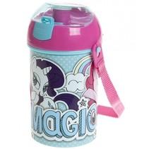 pop-up beker My little Pony 430 ml roze/blauw