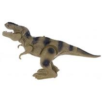 lopende dinosaurus met geluid groen 30 cm