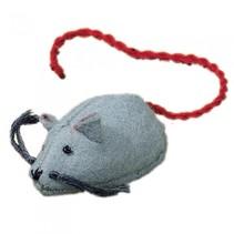 viltdier muis 3 cm grijs