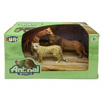 speelset wilde dieren 3-delig multicolor
