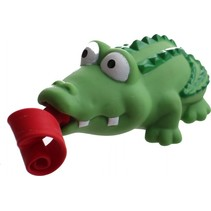 knijpfiguur krokodil met roltong 6 cm groen