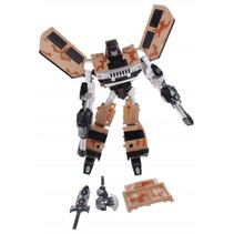 transformation robot busje 26 cm bruin