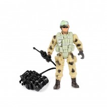 speelset soldaat met accessoire stofzuiger 8-delig 11 cm