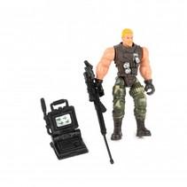speelset soldaat met accessoire computer 8-delig 11 cm