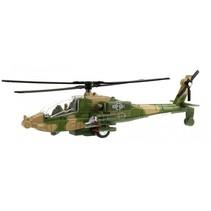 militaire helikopter met licht en geluid 20 cm groen