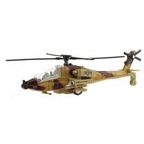 militaire helikopter met licht en geluid 20 cm bruin