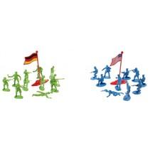 legerspeelset 100-delig groen/blauw