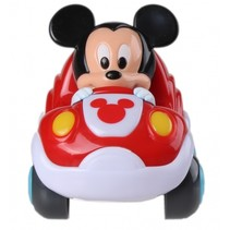 Disney Baby Mickey Mouse pull-back auto rood