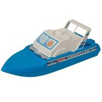 motorjacht 40 cm wit/blauw