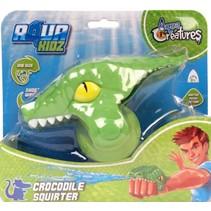 waterpistool krokodil 12 cm groen