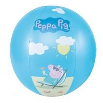 strandbal Peppa Pig 29 cm blauw