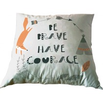 kussen Be Brave, Have Courage 35 x 35 cm roze