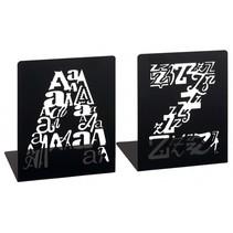 boekensteunen A&Z letters zwart 2 stuks