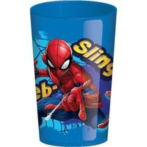 beker Spider-Man 280 ml blauw