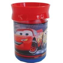 Beker Cars dubbelwandig kunststof 250 ml rood