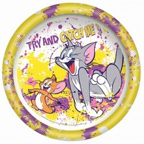 bord Tom & Jerry 23 cm geel