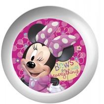 bordje Minnie Mouse melamine 22 cm wit