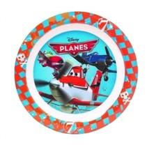 Planes bord 22 cm blauw/rood