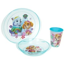 Lunchset Paw Patrol Skye magnetron blauw 3-delig