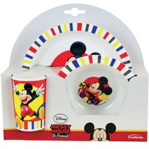 eetsetje Mickey Mouse 3-delig wit
