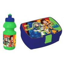 lunchset broodtrommel en beker Toy Story groen/blauw