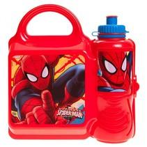 lunchset Spider-Man broodtrommel en beker rood