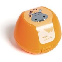 fruitdoosje nijlpaard 0,5 liter oranje