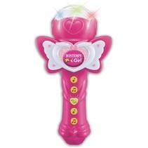 draagbare microfoon iGirl meisjes roze 24 cm