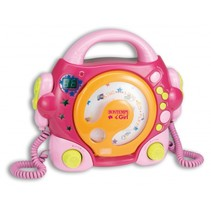 CD-speler met Microfoons Roze
