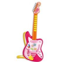 Gitaar I Girl Elektrisch Rock Roze/Oranje