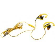 in-ear oordopjes met microfoon geel/grijs
