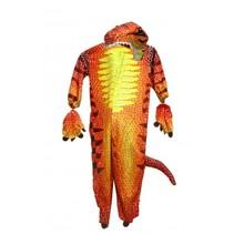 kinderkostuum onesie T-Rex rood