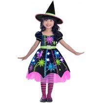 kostuum Spider Witch meisjes zwart 4-6 jaar 2-delig
