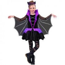 kostuum Miss Battiness meisjes 8-10 jaar zwart 4-delig
