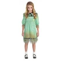 kostuum Dreadful Darling meisjes 8-10 jaar mintgroen