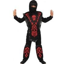 kostuum Ninja Fighter zwart/rood jongens