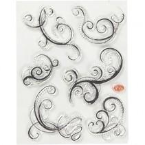 stempels swirls siliconen 14 x 18 cm