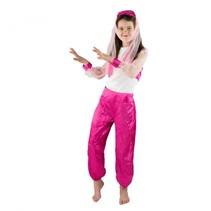 verkleedkostuum danseres meisjes roze 4-6 jaar