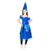 prinsessenjurk met muts blauw meisjes 3-5 jaar