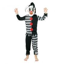 verkleedkostuum psycho clown 4-6 jaar