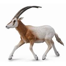 wilde dieren: sabelantilope 12,5 cm bruin/wit