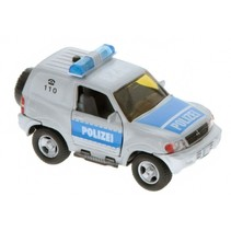 Duitse politiewagen diecast pull-back L+G 11 cm zilver