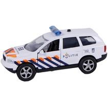 politiewagen pull-back met licht en geluid 11 cm wit