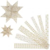 sterstroken Vellum papier 44/78 cm wit/goud 48 stuks