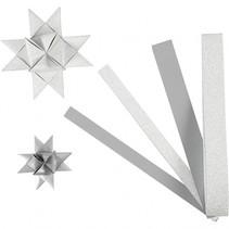 vlechtstroken Uni papier 44/78 cm zilver 40 stuks