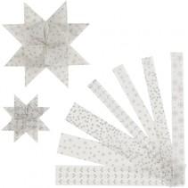 vlechtstroken Fluweel papier 44/78 cm zilver 48 stuks