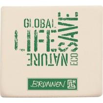 gum wit/groen rubber 4 x 3,5 x 1 cm