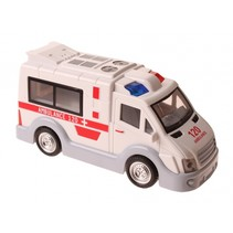 Engelse ambulance met licht en geluid 17 cm wit