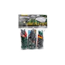 speelset leger met voertuigen groen/grijs