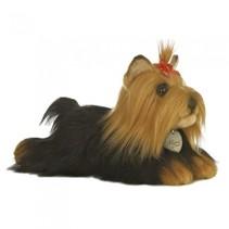 knuffel Mini Yoni Yorkshire Terrier hond bruin 28 cm